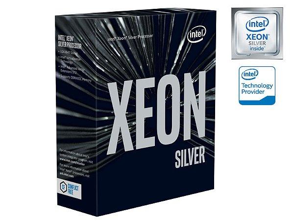 PROCESSADOR XEON ESCALAVEIS LGA3647 INTEL BX806734114 4114 SILVER 10 CORES 2.2GHZ 13,75MB 9,6GT/S S/COOLER