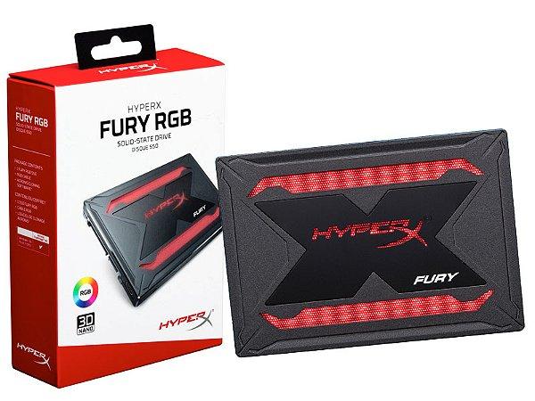 SSD GAMER HYPERX SHFR200/960G FURY 960GB 2.5 RGB SATA III