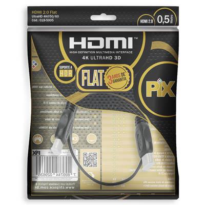 CABO HDMI 2 M FLAT GOLD - 2.0 4K HDR 19P 018-5022 PIX