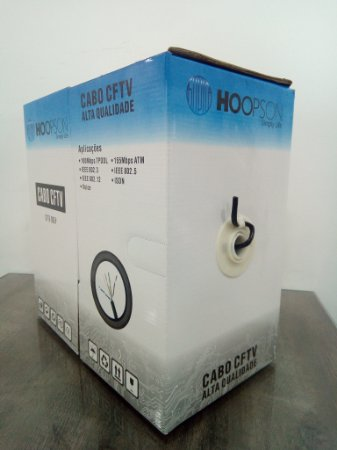 CAIXA DE CABO DE REDE 305 METROS CFTV-005P CAT5 PRETO HOOPSON
