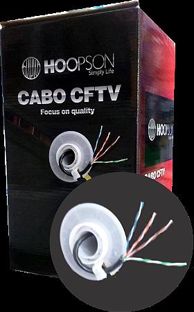 CAIXA DE CABO DE REDE 305 METROS RB002-P CAT5 PRETO HOOPSON