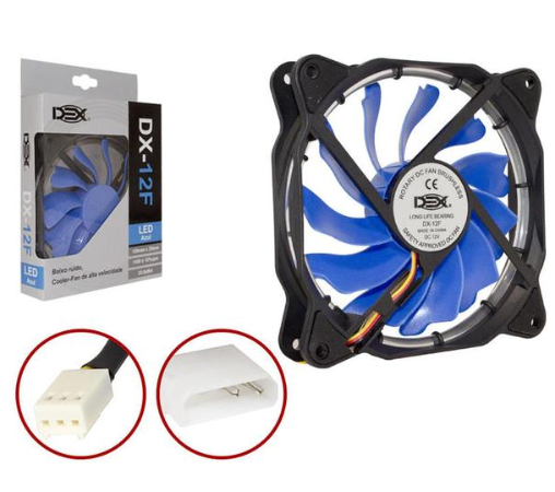 COOLER GAB 120MM DEX-12F LED AZUL AZUL DEX