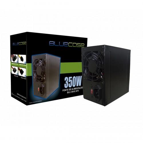 FONTE ATX 350W REAL 20/24 PINOS BLU350-E 2*SATA 2* IDE BLUECASE