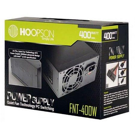 FONTE ATX 400W 24 PINOS FNT-400W 2*SATA 2* IDE HOOPSON