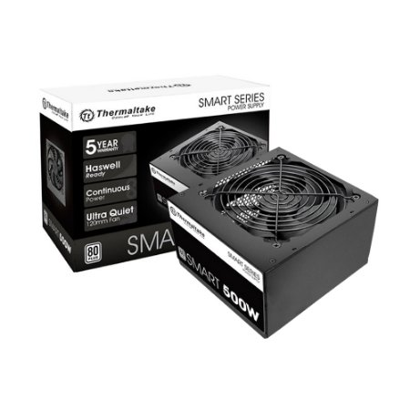 FONTE ATX 500W REAL 20/24 PINOS PS-SPD-0500NPCWBZ-W 5*SATA 80 PLUS WHITE THERMALTAKE