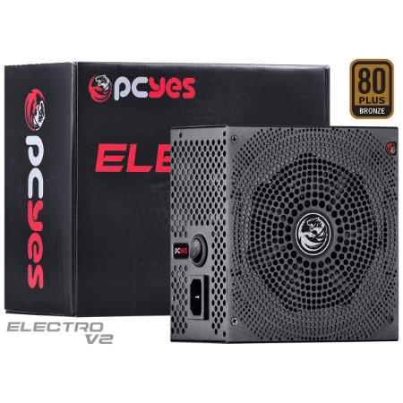 FONTE ATX 600W REAL ELECV2PTO600W ELECTRO V2 SERIES 80 PLUS - BRONZE PCYES