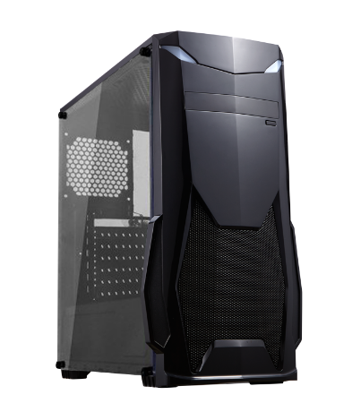 GABINETE 1 BAIA GM8001 GAMER SEM FONTE USB 3.0 COM ACRILICO BLACK BRAZIL PC