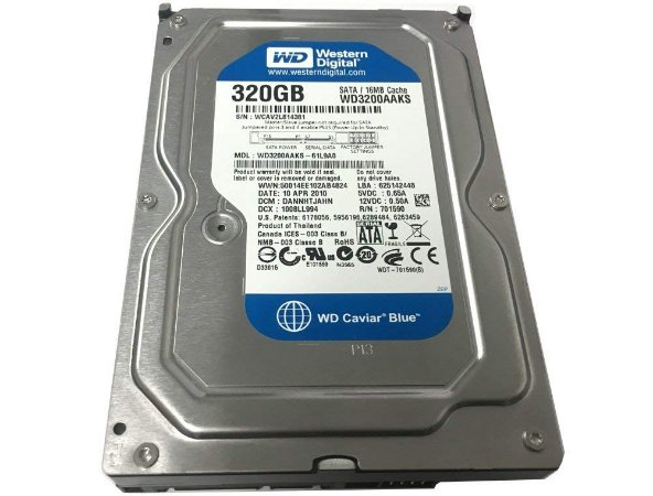 HD 320GB SATA2 WD3200AAKS 7200RPM WESTERN DIGITAL