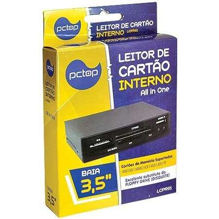 LEITOR CARTÃO INTERNO LCPR01 PRETO PCTOP