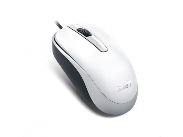 MOUSE USB DX-120 12000 DPI OPTICO 3 BOTOES COM SCROLL BRANCO GENIUS