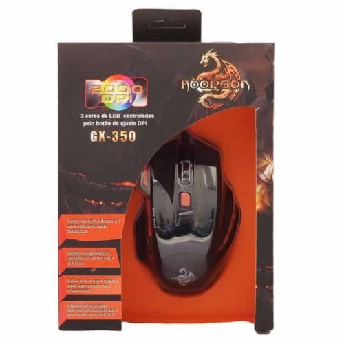 MOUSE USB GX-350 2000 DPI GAMER 7 BOTÕES HOOPSON