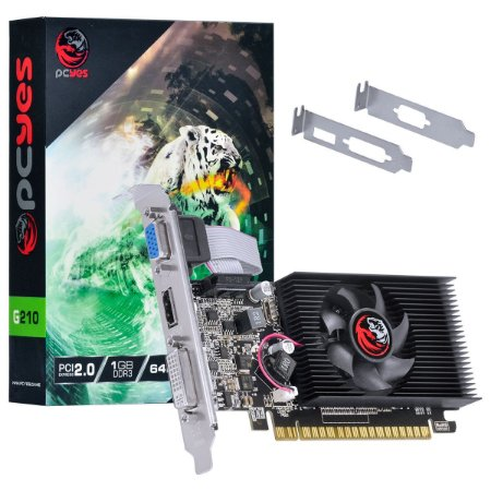 PLACA DE VIDEO 1 GB PCIEXP G210 PA210G6401D3LP 64BITS DDR3 LOW PROFILE PCYES