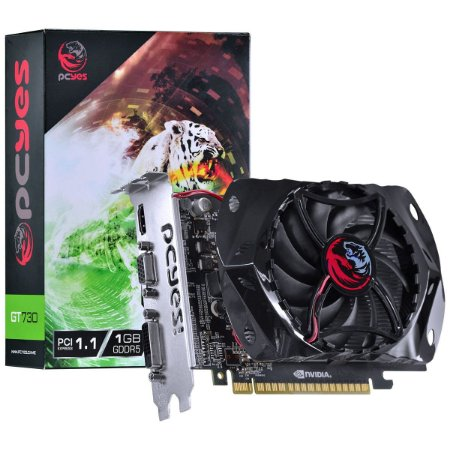 PLACA DE VIDEO 1 GB PCIEXP GT730 PY730GT12801G5 128BITS GDDR5 GEFORCE PCYES