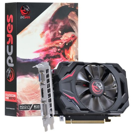 PLACA DE VIDEO 2GB PCIEXP HD 6570 PW657012802D3 128BITS DDR3 RADEON PCYES
