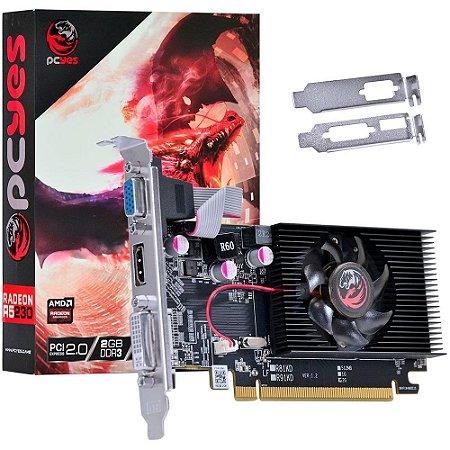 PLACA DE VIDEO 2GB PCIEXP R5 230 PW230R56402D3 64BITS DDR3 RADEON PCYES