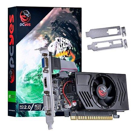 PLACA DE VIDEO 4GB PCIEXP GT730 PV73012804D3LP 128BITS DDR3 NVIDIA LOW PROFILE PCYES
