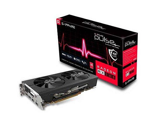 PLACA DE VIDEO 4GB PCIEXP RX 580 11265-09-20G 256BITS GDDR5 PULSE SAPPHIRE