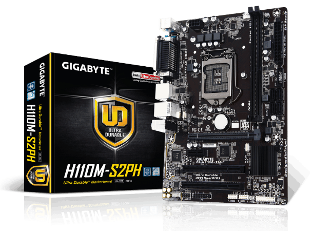 PLACA MAE 1151 ATX GA-H110M-S2PH DDR4 VGA, HDMI, USB3.0 GIGABYTE