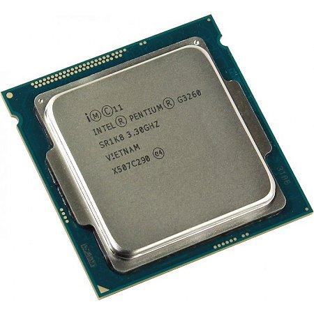 PROCESSADOR 1150 PENTIUM G3260 3.30 GHZ HASWELL 3 MB CACHE DUAL CORE INTEL SEM EMBALAGEM