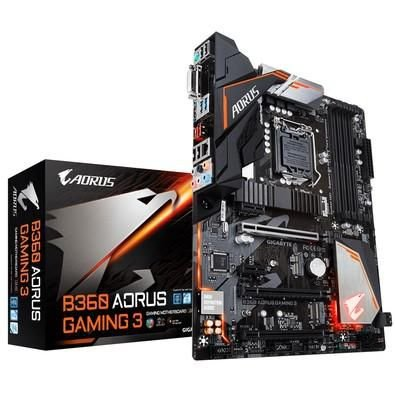 PLACA MÃE INTEL B360 AORUS GAMING 3 DDR4 GIGABYTE