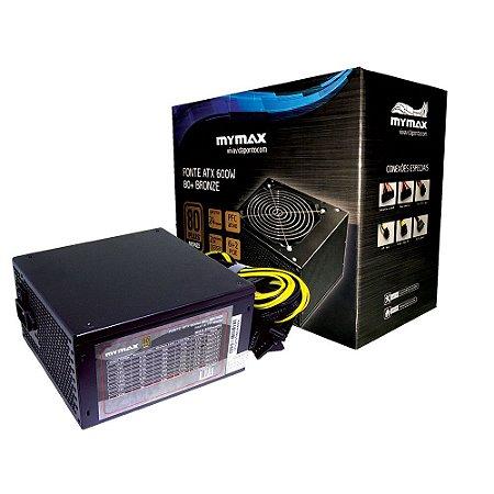 FONTE ATX 500W 80 PLUS - BRONZE MYMAX BOX