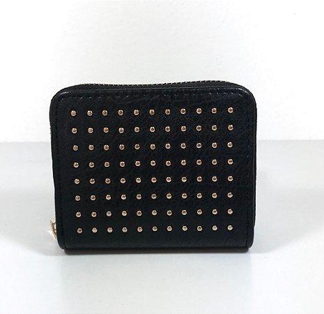 Mini Carteira black Dots