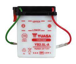 Bateria Yuasa YB2.5L-A | 12V - 2,5AH | CG 125 (80/99) | Turuna (80/99) | Today (80/99)