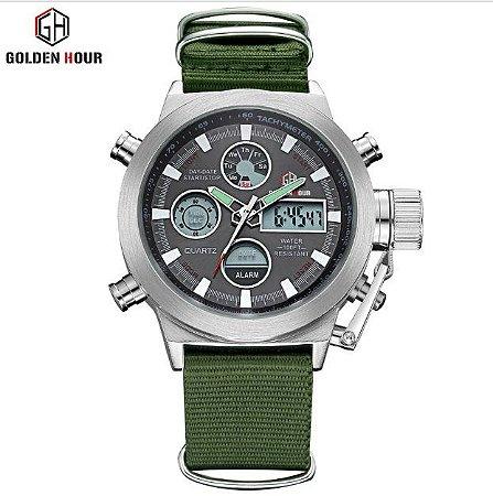 71a567ffbdd Relógio Militar Digital Analogico Masculino De Pulso - Grs-market