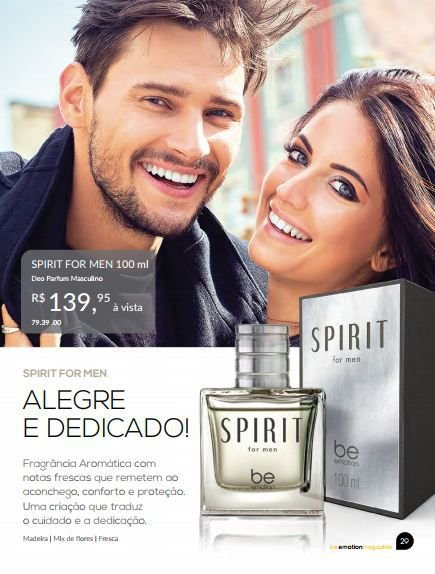 Perfume Spirit Be Emotion - Masculino 100ml