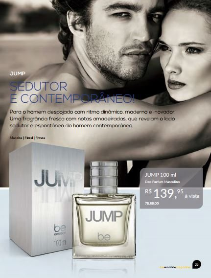Perfume Jump Be Emotion - Masculino 100ml