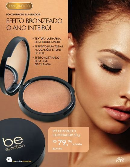 Pó Compacto Iluminador Be Emotion 10g