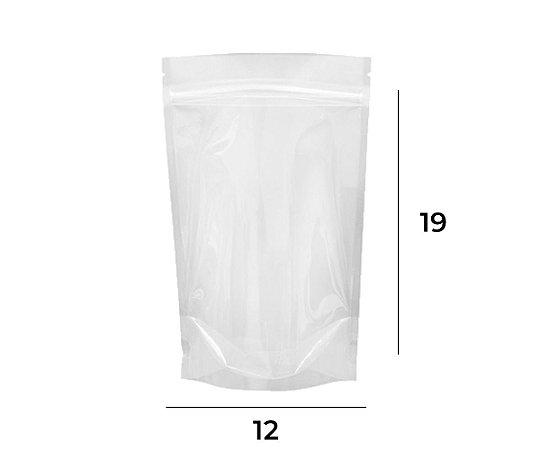 Stand up Pouch Transparente com Zip – 12 X 19 X 3
