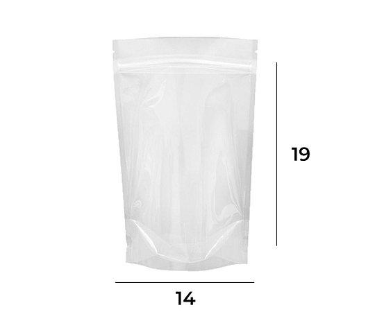 Stand up Pouch Transparente com Zip – 14 x 19 x 3