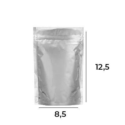 Stand up Pouch Metalizado com Zip – 8,5 x 12 x 2,5