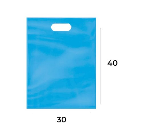 Sacola Plástica Boca de Palhaço 30x40