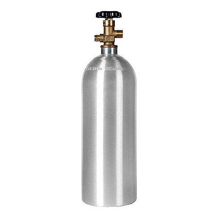 Cilindro Co2 Alumínio 2.3 Kg Extração Carbonatação Cerveja.