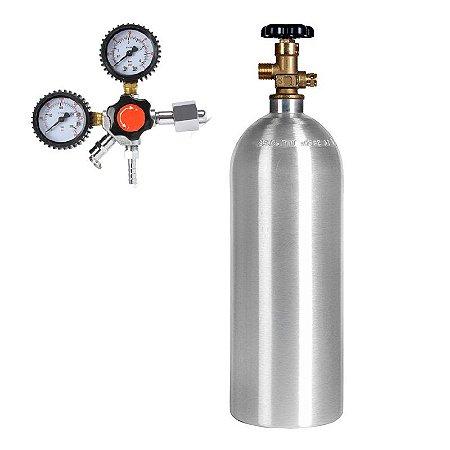 Kit Cilindro De Alumínio Co2 2,3 Kg E Regulador De Pressão