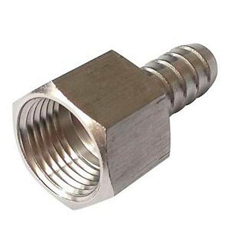 Conexão Aço Inox 304 Espigão 12mm X Rosca Fêmea Bsp Ø 1/2.