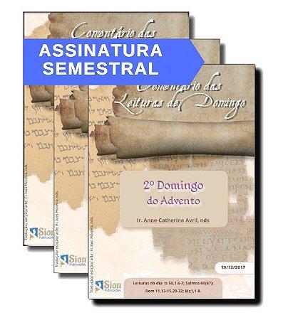 Folhetos do Comentário das Leituras de Domingo (ASSINATURA SEMESTRAL)