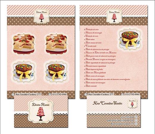 Cartão Frente + Flyer Frente
