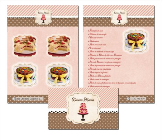 Cartão Frente + Flyer Frente e Verso