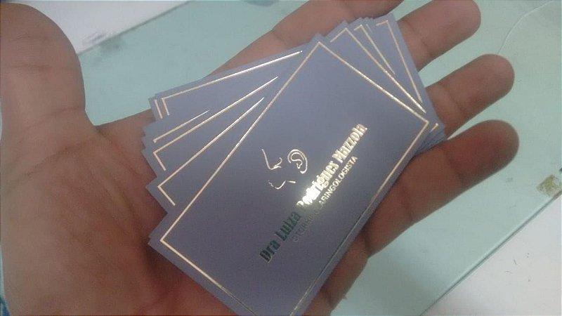Cartão de Visita Laminado e Hot Stamping
