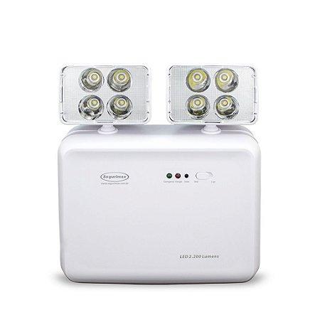 Luminaria LED Emergencia 2.200 Lumens SEGURIMAX Bivolt