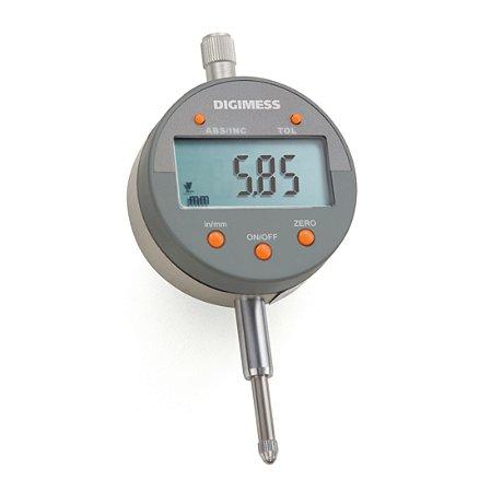 """RELÓGIO COMPARADOR DIGITAL CAPACIDADE: 0-12,5mm/0-0.5"""" (RESOLUÇÃO 0,01mm) DIGIMESS"""