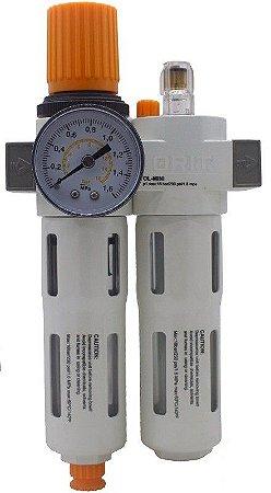Filtro Regulador e Lubrificador de Ar C/ Dreno Automático 16 Bar