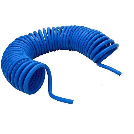 Tubo PU Azul Espiral