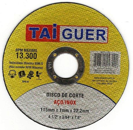 Disco de Corte 4.1/2 x 3/64 x 7/8 - Taiguer