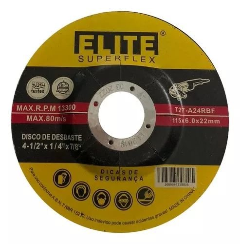 Disco de Desbaste 4.1/2 x 1/4 x 7/8 - Elite