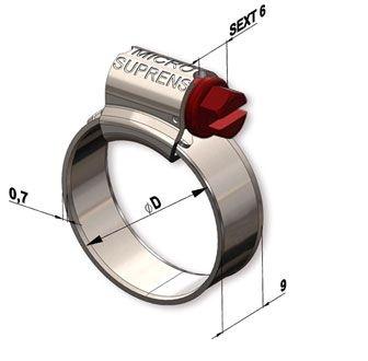 Abraçadeira Rosca Sem Fim MICRO 09-13 | Suprens