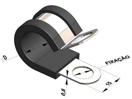 Abraçadeira Borracha Tubo 45 mm | Suprens